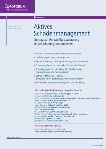 Aktives Schadenmanagement - Institut für Experimentelle Kernphysik