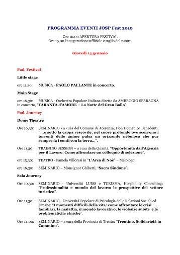 Scarica qui il programma delle manifestazioni pdf 335 kb for Pdf del programma della casa