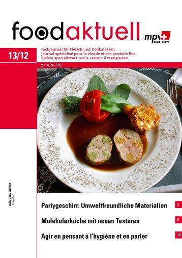Molekularküche mit neuen Texturen Agir en ... - Foodaktuell.ch