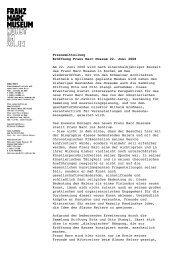 Pressemitteilung Eröffnung Franz Marc Museum 22. Juni 2008 Am ...
