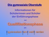 q-phase-info - gymnasium am wall verden