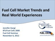 Fuel Cell Market Trends and Real World ... - Fuel Cells 2000