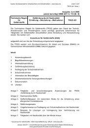 TRGS 401 - Gewerbeaufsicht - Baden-Württemberg