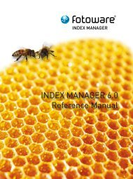 INDEX MANAGER 6.0 Reference Manual - FotoWare