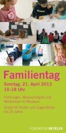 Familientag - Fondation Beyeler