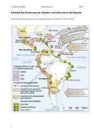 Infoblatt: Die Eroberung der Azteken und Inkas durch