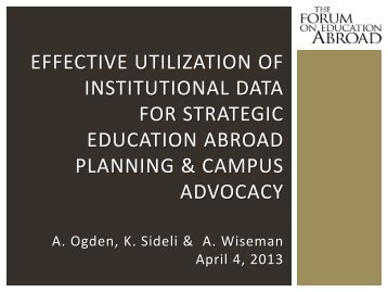 effective utilization of institutional data for strategic education abroad ...