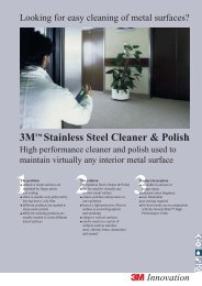 Looking for easy cleaning of metal surfaces? - 3M
