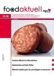 Stabiler Markt bei Wursthüllen Heimisches auf dem ... - Foodaktuell.ch