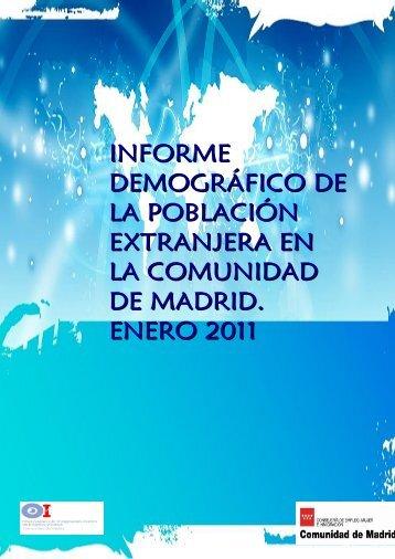 informe demográfico de la población extranjera en la comunidad de ...
