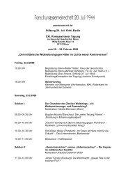 Programm - Forschungsgemeinschaft 20. Juli