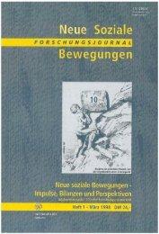 Vollversion (7.4 MB) - Forschungsjournal Soziale Bewegungen