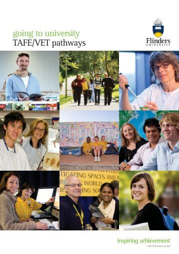 going to university TAFE/VET pathways - Flinders University