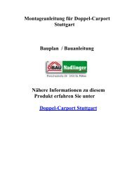 Montageanleitung für Doppel-Carport Stuttgart ... - Gartenhaus-Park