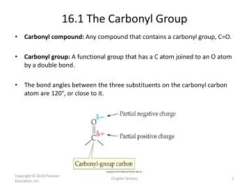 16.1 The Carbonyl Group