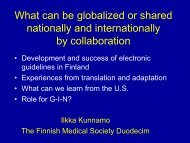 Ilkka Kunnamo - Guidelines International Network