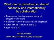 Ilkka Kunnamo - Guidelines International Network