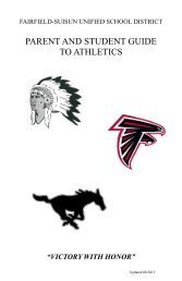 parent and student guide to athletics - Fairfield-Suisun Unified ...