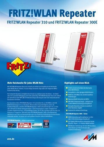 WLAN Repeater 300E und 310 - AVM