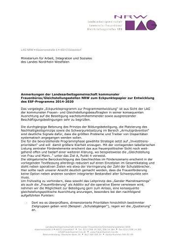 Eckpunktepapier ESF 2014-2020-LAG NRW-2012 09 03