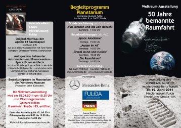 50 Jahre bemannte Raumfahrt - Mercedes-Benz Niederlassung Fulda