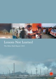 Lessons Not LEarned: The Other Shell Report - Friends of the Earth