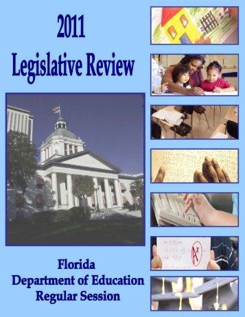 2011 Legislative Review Book - Florida Department of Education