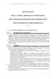 Regolamento interno e Arbitrato - Fondazione dei Dottori ...