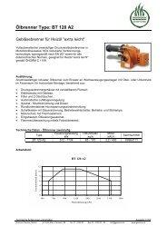 Ölbrenner Type: BT 120 A2 - Garvens