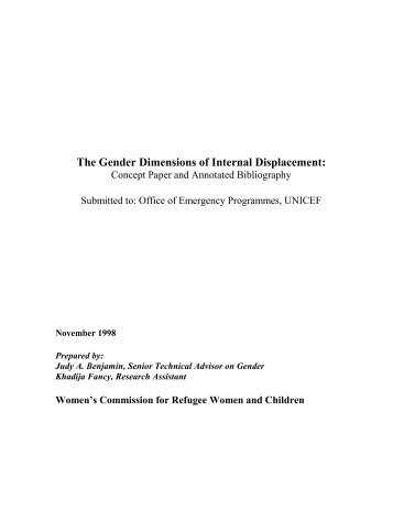 The Gender Dimensions of Internal Displacement - Forced Migration ...