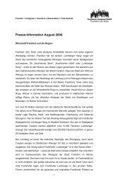 Formatvorgabe: Pressemitteilungen - Tourismus und Congress GmbH