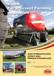Vicon: Für Efficient Farming empfohlen - Gangolf