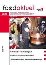Schritt in die Selbstständigkeit Rückblick: Luzern im ... - Foodaktuell.ch