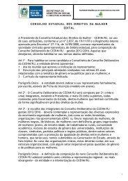 Ofício CEDIM/RJ/GAO/OF nº 115 Rio de Janeiro, 06 de setembro de ...