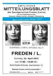 Jahrgang 38 Donnerstag, 19. April 2012 Nummer 04