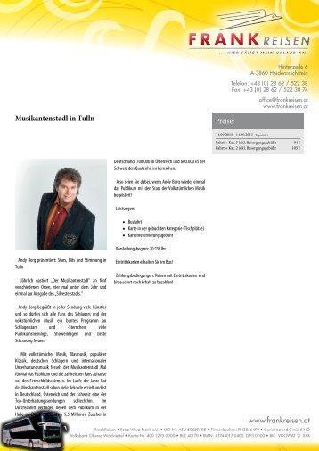 Mario Barth - Live in der Wiener Stadthalle - Frankreisen.at
