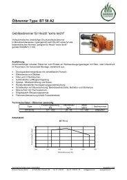 Ölbrenner Type: BT 50 A2 - Garvens