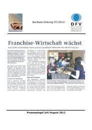 Nordsee-Zeitung 07/2012 - Deutscher Franchise-Verband