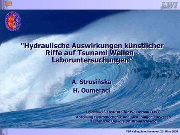 Hydrodynamische Auswirkungen künstlicher Riffe auf ... - FZK