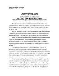 DISCOVERING ZORA - Florida Humanities Council