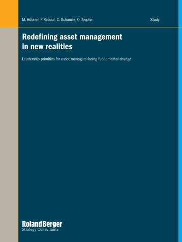 Redefining asset management in new realities - Financial Risk and ...