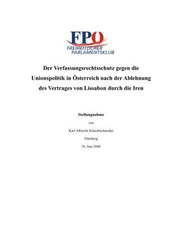 Der Vertrag von Lissabon in Österreich