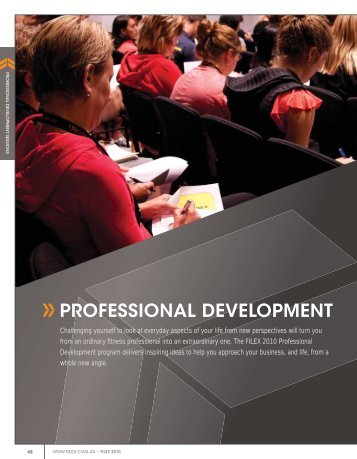 PROFESSIONAL DEVELOPMENT - Australian Fitness Network