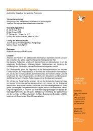 pdf-Download: Geplanter Programmablauf Wangerooge 2013... - Forum Unna