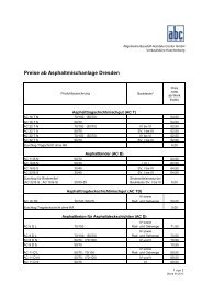 Preise ab Asphaltmischanlage Dresden - ALLGEMEINE BAUSTOFF ...