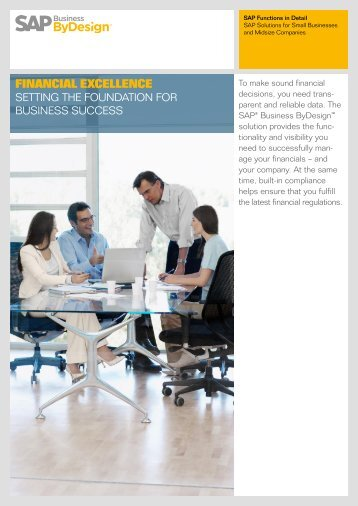 Financial Excellence with SAP Business ByDesign