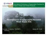 The Importance of Using Legally Harvested Wood ... - Forest Trends