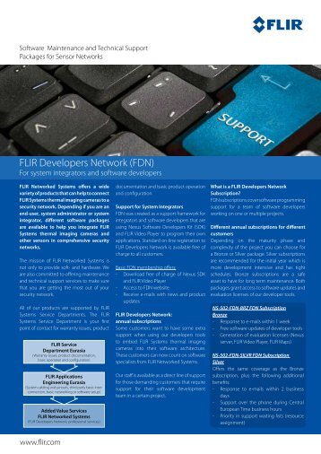 FLIR Developers Network (FDN) - Flir Systems