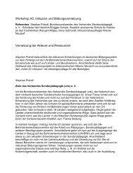 Workshop (WS): A5: Inklusion und Bildungsvernetzung