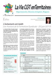 JT n° 13 - mars 2013.indd - Féderation - La cgt